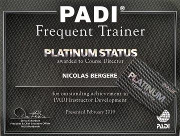 All4Diving PADI Pro Thailand - Platinum PADI Course Director Nicolas Bergere